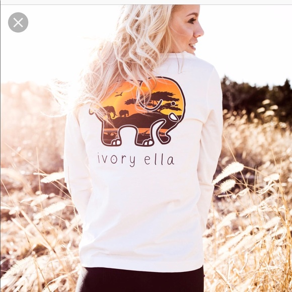 63122049e997 ivory ella Tops - Ivory Ella sunset safari Tee